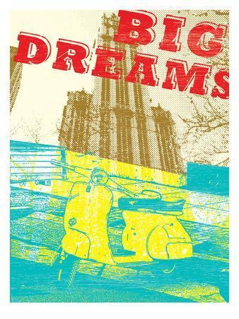 Modern Vespa Big City Dreams Print