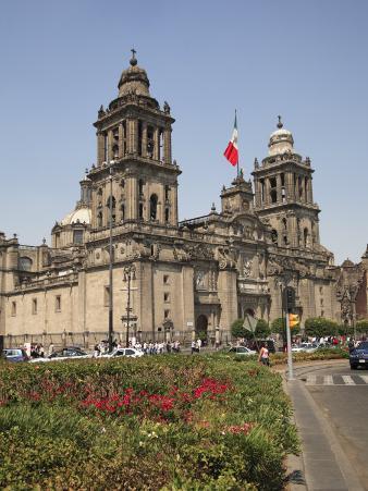 Metropolitan Cathedral, Zocalo, Mexico City, Mexico, North America