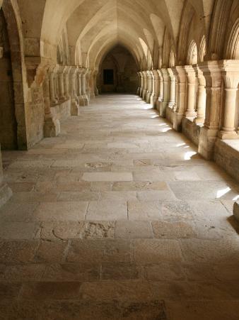 Fontenay Cistercian Abbey Cloister, Marmagne, Doubs, Burgundy, France, Europe
