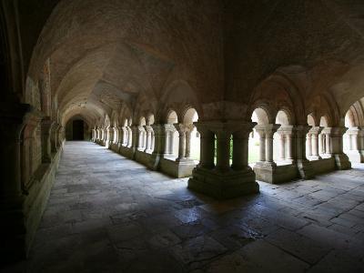 Cistercian Abbey Cloister, Fontenay, Marmagne, Doubs, Burgundy, France, Europe