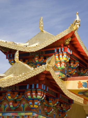 Ganden Sumsteling Gompa Buddhist Monastery, Shangri-La, Shangri-La Region, Yunnan Province, China