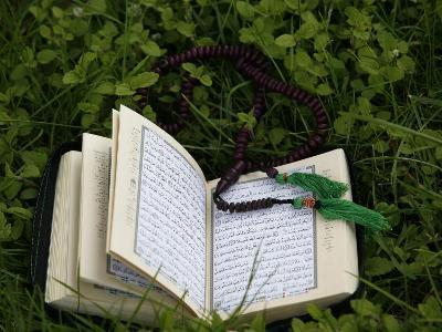 Koran and Prayer Beads, Chatillon-Sur-Chalaronne, Ain, France, Europe