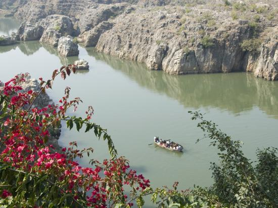 Marble Rocks Gorge On The Narmada River Bhedaghat