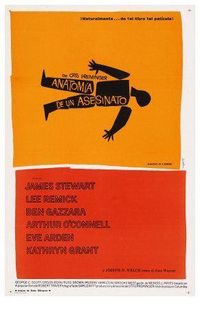 Anatomy of a Murder, Spanish Movie Poster, 1959