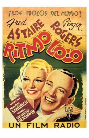 Shall We Dance, Spanish Movie Poster, 1937