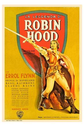 The Adventures of Robin Hood, French Movie Poster, 1938