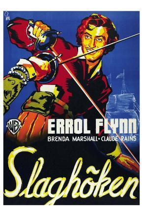 The Sea Hawk, Swedish Movie Poster, 1940