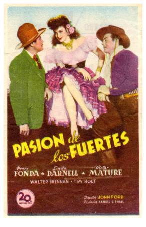 My Darling Clementine, Spanish Movie Poster, 1946