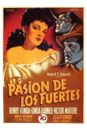 My Darling Clementine, Spanish Movie Poster, 1946
