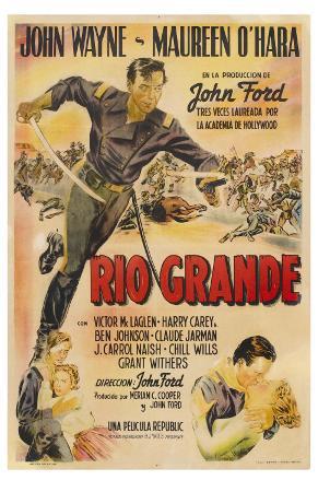 Rio Grande, Argentine Movie Poster, 1950