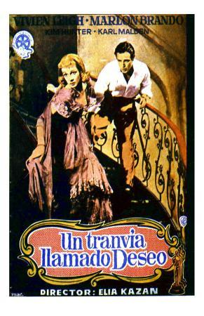 A Streetcar Named Desire, Spanish Movie Poster, 1951