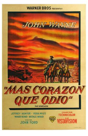 The Searchers, Argentine Movie Poster, 1956