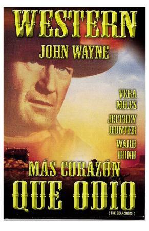 The Searchers, Mexican Movie Poster, 1956