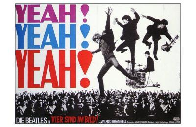 A Hard Day's Night, German Movie Poster, 1964