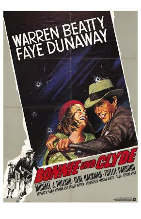 Bonnie and Clyde, German Movie Poster, 1967