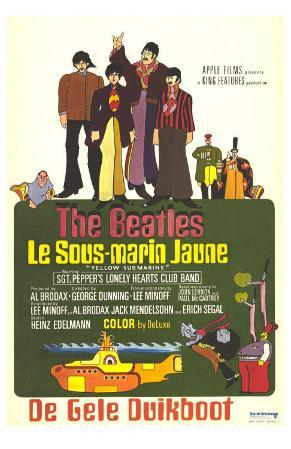 Yellow Submarine, French Movie Poster, 1968