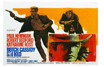 Butch Cassidy and the Sundance Kid, Belgian Movie Poster, 1969