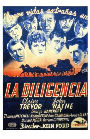 Stagecoach, Spanish Movie Poster, 1939