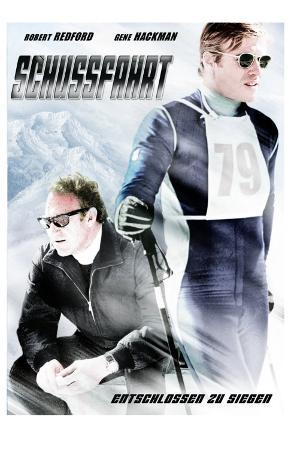 Downhill Racer, German Movie Poster, 1969
