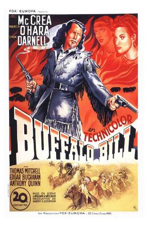 Buffalo Bill, French Movie Poster, 1944