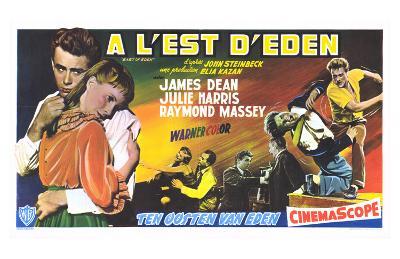 East of Eden, Belgian Movie Poster, 1955