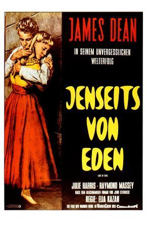 East of Eden, German Movie Poster, 1955