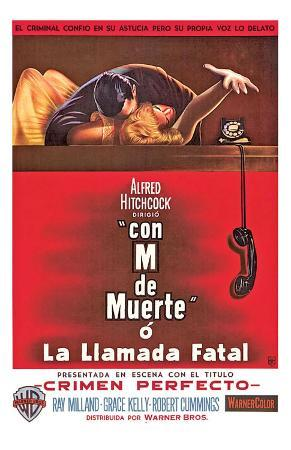 Dial M For Murder, Argentine Movie Poster, 1954
