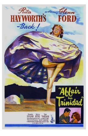 Affair in Trinidad, Australian Movie Poster, 1952