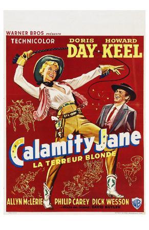 Calamity Jane, Belgian Movie Poster, 1953