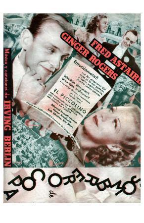 Top Hat, Spanish Movie Poster, 1935