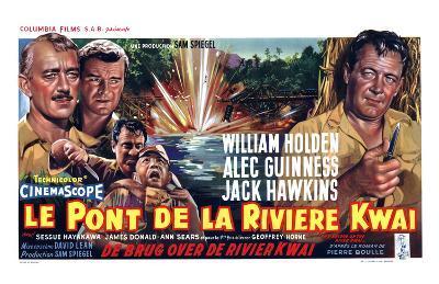 Bridge on the River Kwai, Belgian Movie Poster, 1958