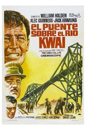 Bridge on the River Kwai, Spanish Movie Poster, 1958