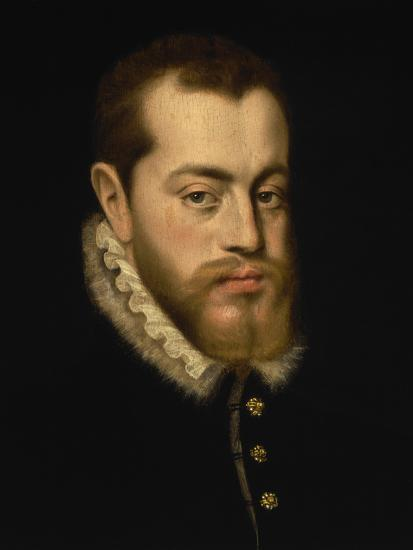 Philip Black King Bedroom Set: Portrait Of King Philip II Of Spain Giclee Print By Alonso