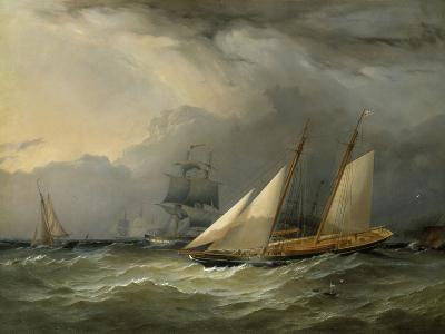 The Brig 'Pearl' and a Schooner of the Royal Yacht Squadron