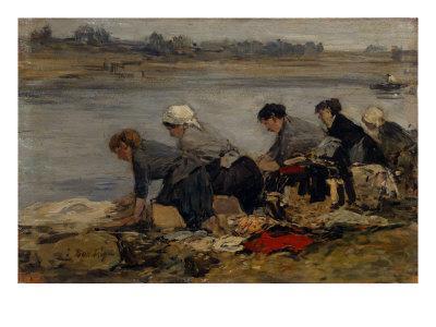 Laveuses au Bord de la Toucques,c.1885-90