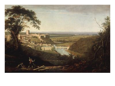 Landscape with View of Richmond Castle