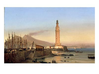 A View of the Lighthouse of Santa Lucia, Naples