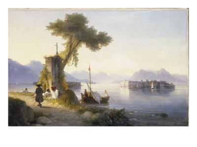 The Isola Bella on Lago Maggiore, 1843