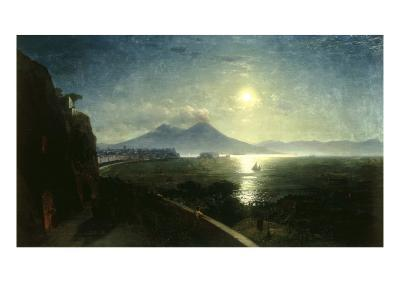 View of the Bay of Naples with the Castel del'Ovo as seen from Posillipo, 1892