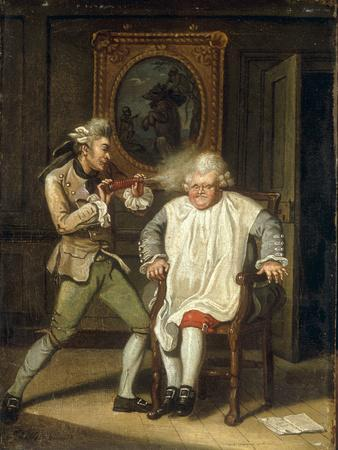 Dr Johnson with the Barber