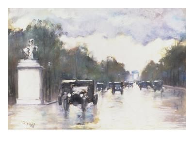 The Champs Elysees, 1928