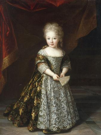 Portrait of a Young Girl wearing an Embroidered Lace-Trimmed Dress