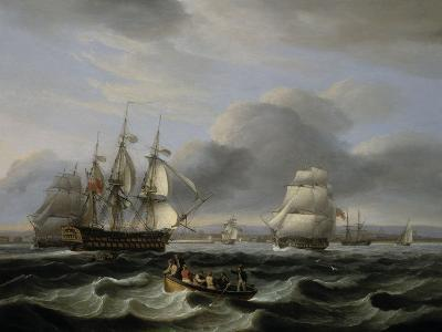 British Men of War and Other Shipping off Portsmouth Harbour, 1829