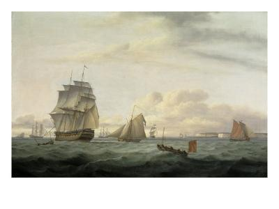 Shipping off Ramsgate Harbour, 1807