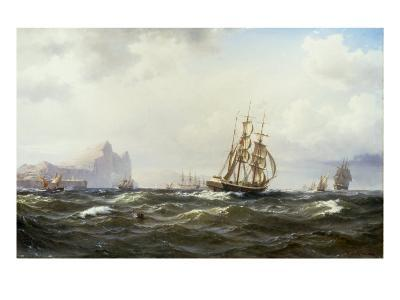 Shipping in the Straits of Gibraltar, 1875