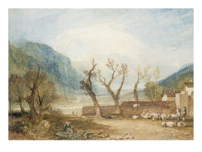 Mont Blanc from the Bridge of St Martins, Sallanches, c.1807