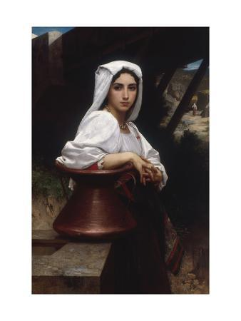 Young Italian Girl Drawing Water From A Well, 1871