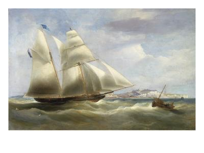 A Schooner off Dover, 1834