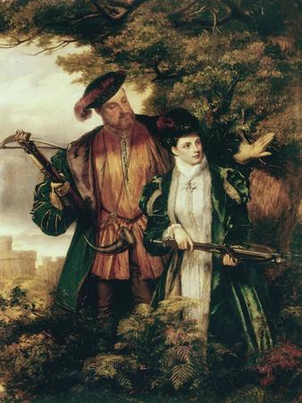 Henry VIII and Anne Boleyn Deer Shooting in Windsor Forest