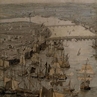 The Rhinebeck Panorama of London (Ships sailing upstream)